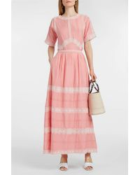 Paul & Joe - Pink Broderie Anglaise Cotton And Silk-blend Skirt - Lyst