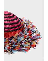 Missoni Red Raffia Sun Hat