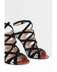 Giambattista Valli - Black Dotty Strappy Heels - Lyst