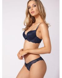 Boux Avenue - Blue Chloe Lace Thong - Lyst