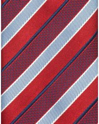 Brioni - Red Regimental Tie for Men - Lyst
