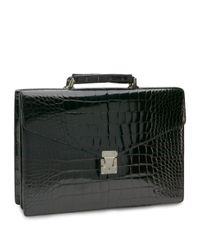 Brooks Brothers | Black Alligator Billfold Briefcase for Men | Lyst