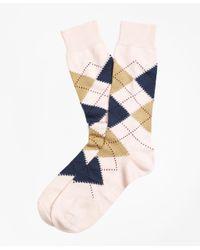 Brooks Brothers | Pink Argyle Crew Socks for Men | Lyst