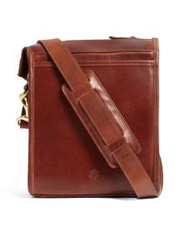 Brooks Brothers - Brown J.w. Hulme Leather Correspondent Bag for Men - Lyst