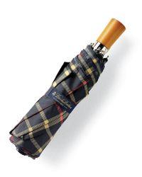 Brooks Brothers - Blue Plaid Mini Umbrella - Lyst