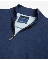 Brooks Brothers - Blue Cotton Bomber for Men - Lyst