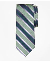 Brooks Brothers - Green Melange Bold Stripe Tie for Men - Lyst