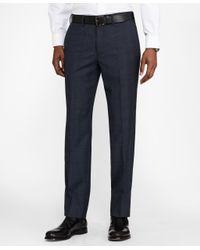 Brooks Brothers - Blue Milano Fit Saxxontm Wool Plaid 1818 Suit for Men - Lyst