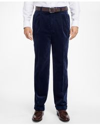 Brooks Brothers - Blue Elliot Fit Wide Wale Stretch Corduroys for Men - Lyst
