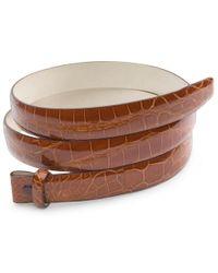 Brooks Brothers | Brown Alligator Strap for Men | Lyst