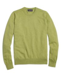 Brooks Brothers - Green Cashmere Crewneck Sweater for Men - Lyst