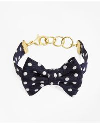 Brooks Brothers - Blue Kiel James Patrick Polka-dot Bow-tie Bracelet - Lyst