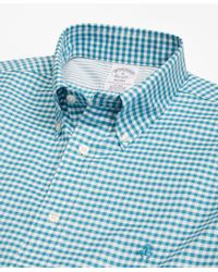 Brooks Brothers - Blue Non-iron Regent Fit Gingham Sport Shirt for Men - Lyst
