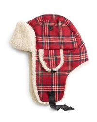 Brooks Brothers   Red Signature Tartan And Shearling Trapper for Men   Lyst