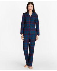 Brooks Brothers | Blue Tartan Cotton Flannel Pajama Set | Lyst