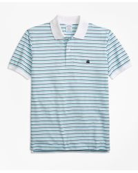 Brooks Brothers - Blue Slim Fit Supima® Oxford Stripe Polo Shirt for Men - Lyst