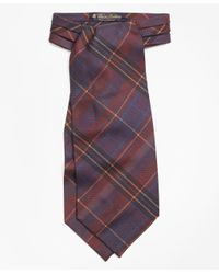 Brooks Brothers - Multicolor Ancient Madder Plaid Ascot for Men - Lyst