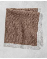 Brooks Brothers - Brown Golden Fleece® Knit Pocket Square for Men - Lyst