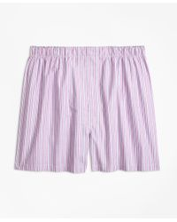 Brooks Brothers - Purple Traditional Fit Split Stripe Boxers for Men - Lyst