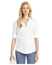 Brooks Brothers | White Non-iron Fitted Dress Shirt | Lyst