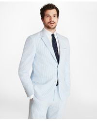 Brooks Brothers - Blue Regent Fit Seersucker Sport Coat for Men - Lyst