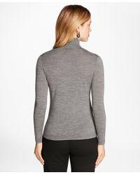 Brooks Brothers - Gray Saxxontm Wool Turtleneck Sweater - Lyst