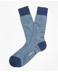 Brooks Brothers - Blue Herringbone Crew Socks for Men - Lyst