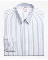 Brooks Brothers - Blue Original Polo® Button-down Oxford Madison Classic-fit Dress Shirt, Alternating Bengal Stripe for Men - Lyst