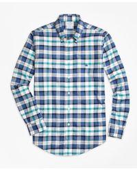 Brooks Brothers - Blue Non-iron Regent Fit Bold Plaid Sport Shirt for Men - Lyst