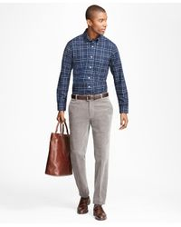 Brooks Brothers | Gray Milano Fit Wide Wale Stretch Corduroys for Men | Lyst
