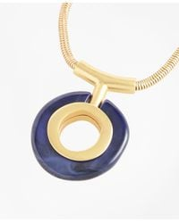 Brooks Brothers - Metallic Gold-plated Pendant Necklace - Lyst