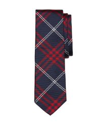 Brooks Brothers   Red And Navy Plaid Tie for Men   Lyst