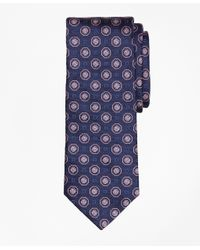 Brooks Brothers | Blue Large Medallion Tie for Men | Lyst