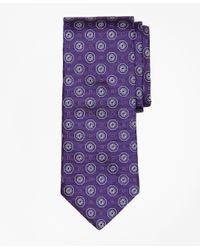 Brooks Brothers | Purple Large Medallion Tie for Men | Lyst