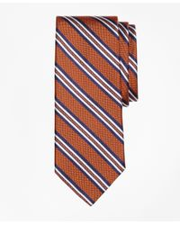 Brooks Brothers | Red Natte Double Stripe Tie for Men | Lyst