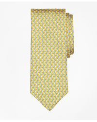 Brooks Brothers | Yellow Tie Motif Print Tie for Men | Lyst