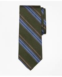 Brooks Brothers | Green Textured Multi-stripe Tie for Men | Lyst