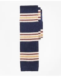 Brooks Brothers | Blue Triple Stripe Knit Tie for Men | Lyst