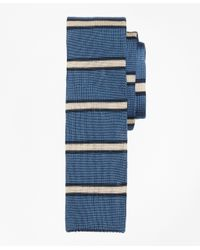Brooks Brothers | Blue Framed Stripe Knit Tie for Men | Lyst