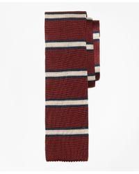 Brooks Brothers | Red Framed Stripe Knit Tie for Men | Lyst