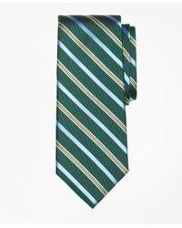 Brooks Brothers | Green Tonal Alternating Split Stripe Tie for Men | Lyst
