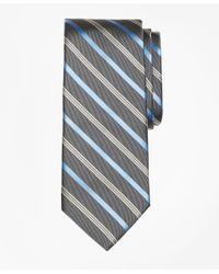 Brooks Brothers | Gray Tonal Alternating Split Stripe Tie for Men | Lyst