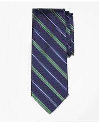 Brooks Brothers | Blue Alternating Split Double Stripe Tie for Men | Lyst
