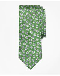 Brooks Brothers | Green Panama Tossed Flower Print Tie for Men | Lyst