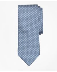 Brooks Brothers | Blue Mini Medallion Print Tie for Men | Lyst