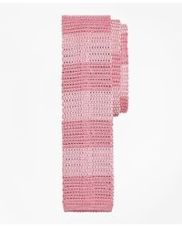 Brooks Brothers | Pink Knit Stripe Tie for Men | Lyst