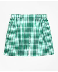 Brooks Brothers | Green Traditional Fit Framed Gingham Boxers for Men | Lyst