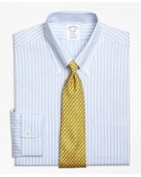 Brooks Brothers | Blue Non-iron Regent Fit Track Stripe Dress Shirt for Men | Lyst