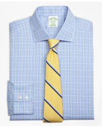 Brooks Brothers - Gray Madison Classic-fit Dress Shirt, Non-iron Glen Plaid Overcheck for Men - Lyst