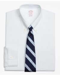 Brooks Brothers | White Non-iron Madison Fit Graph Check Dress Shirt for Men | Lyst